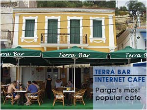 Terra bar - Enjoy Parga's serenity from our terrace
